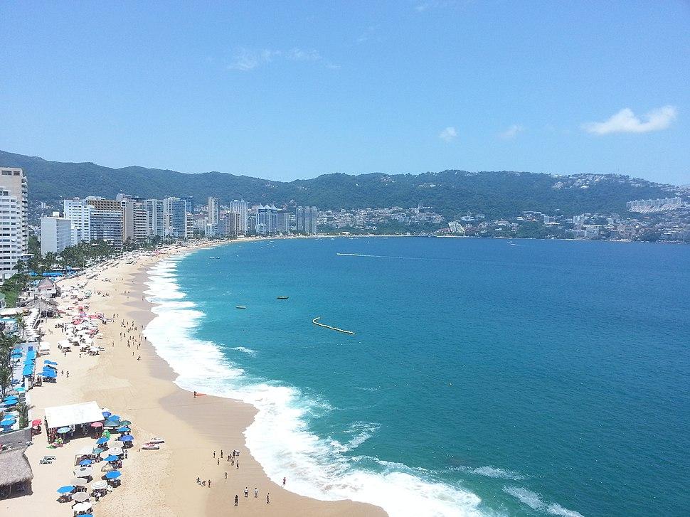 Vista desde un hotel en Acapulco