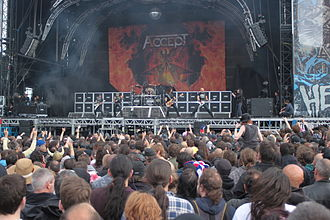 Accept (band) - Image: W0738 Hellfest 2013 Accept 69474