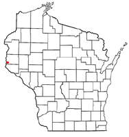 Location of Troy, St. Croix County, Wisconsin