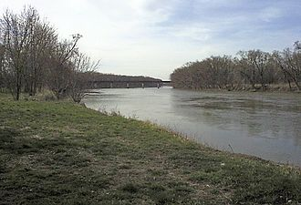 Wabash River - The Wabash River at Covington, Indiana