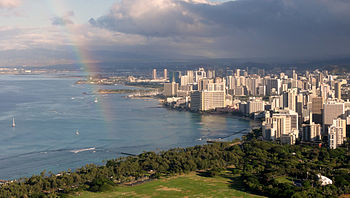 Waikiki view from Diamond Head