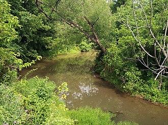 Walker Creek (West Virginia) - Walker Creek as viewed from the North Bend Rail Trail in Walker