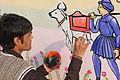 Wall of Creativity@ Gujarat University Wall 9.JPG