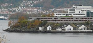 Royal Norwegian Naval Academy - Royal Norwegian Naval Academy buildings in Bergen