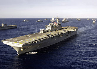 USS Bonhomme Richard (LHD-6) - USS Bonhomme Richard underway in the Pacific Ocean.