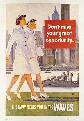Women in the United States Navy - Image: Waves recruiting poster