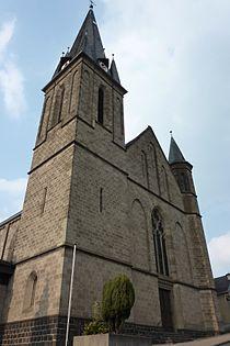 Weibern (Eifel) Katholische Kirche Turm796.JPG