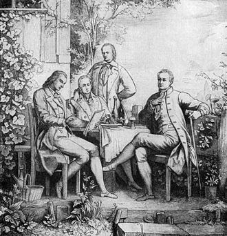 Alexander von Humboldt - Schiller, Wilhelm and Alexander von Humboldt with Goethe in Jena