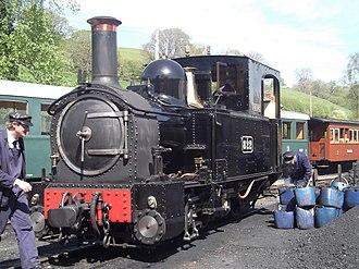 Welshpool and Llanfair Light Railway No.1 The Earl and No.2 Countess - The Earl at Llanfair Caereinion