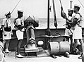 West Indian ratings of the Trinidad Royal Naval Volunteer Reserve operating a depth charge thrower, September 1944. K7524.jpg