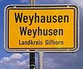 Weyh(a)usen, zweisprachiges Ortsschild, 1.jpeg
