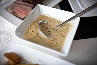 Wine sauce - White wine sauce with beef