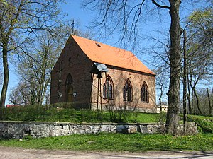 Wiejkowo - 19th century church in Wiejkowo