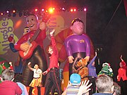 Balloon versions of Murray and Jeff at a Wiggles concert