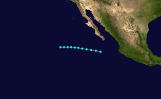 1962 Pacific hurricane season - Image: Willa 1962 track