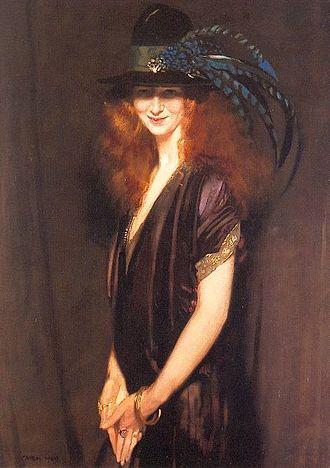 Beatrice Elvery - Portrait of Beatrice Elvery by William Orpen (1909)