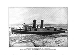Edward M. Cotter (fireboat) - Image: William S. Grattan