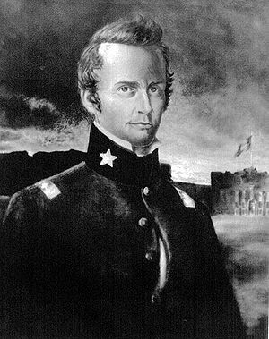 This is a painting of William Barret Travis, w...