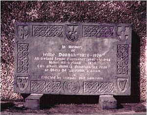 Breffni Park - Memorial to Willie Doonan outside Breffni Park