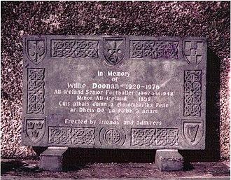 Breffni Park - Memorial to Willie Doonan outside Breffni Park