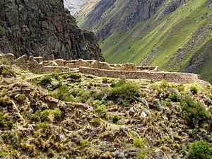 Patallacta - Image: Willkaraqay ruins