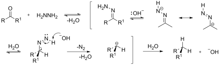 The mechanism of the Wolff-Kishner reduction