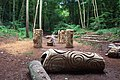 Wood carvings in Grove Wood near to Churston Cove - geograph.org.uk - 251716.jpg