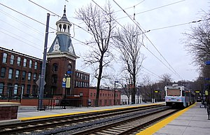 Woodberry station, southbound view, February 2013.jpg