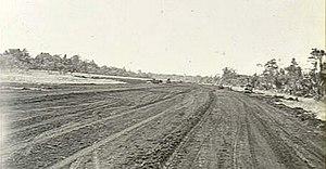 Tadji Airport - Construction of the airstrip at Tadji during World War II