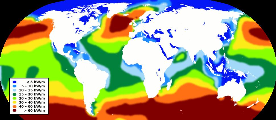 World wave energy resource map
