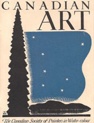 Canadian Society of Painters in Water Colour - The 1939 New York World's Fair catalogue cover.
