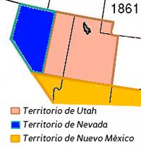 El Territorio de Nevada en 1861.