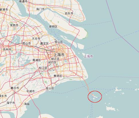 Yangshan Deep-Water Port locator map