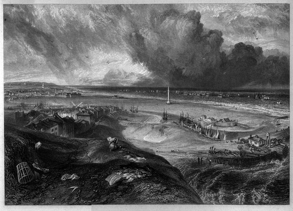 Yarmouth engraving by William Miller after Turner