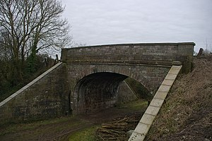 Clevedon branch line - The bridge where Lampley Road passes over the path of the branch line in Kingston Bridge.