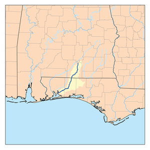 Yellow River (Pensacola Bay) - Image: Yellowflrivermap