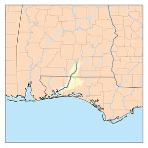 Yellow River (Pensacola Bay) - Image: Yellowflrivermap