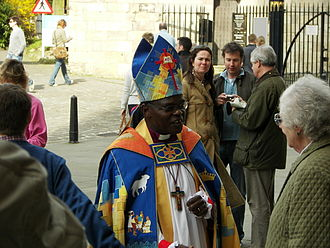John Sentamu - John Sentamu outside York Minster on Easter Sunday, 2007.
