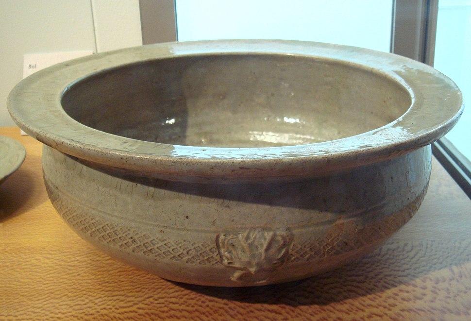 Yue ware with motif 3rd century Western Jin Zhejiang