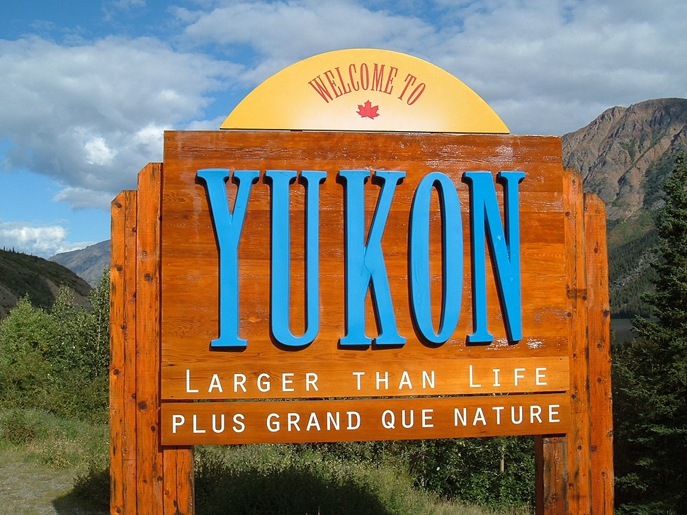 Yukon border sign
