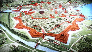 Fortifications of Zürich - 'Stadtmodell' (on LCD for visitors) by Hans Langmack, based on the so-called Müllerplan (published 1794).