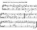 Zarabanda de la partie III de la Neue Clavierübung de Johan Kuhnau.jpg