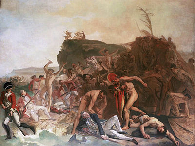 Death of Captain Cook by Johann Zoffany (1795) Zoffany Death of Captain Cook.jpg
