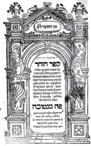 Title page of first edition of the Zohar, Mantua, 1558.