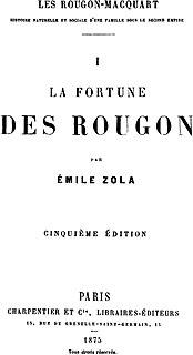 <i>La Fortune des Rougon</i> novel by Émile Zola