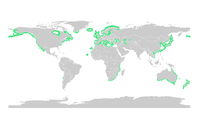 Distribución de todas as especies do xénero.