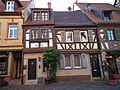 Zwei Fachwerkhäuser Ladenburger Altstadt.JPG