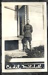 """Cadet Mitchell"" Airman in uniform standing in front of a building, possibly a cadet at Camp Rathbun, one of the Royal Flying Corps' pilot training camps in Deseronto. (8514011934).jpg"