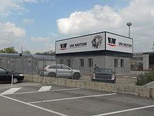 ingresso degli stabilimenti VM Motori a Cento (FE)