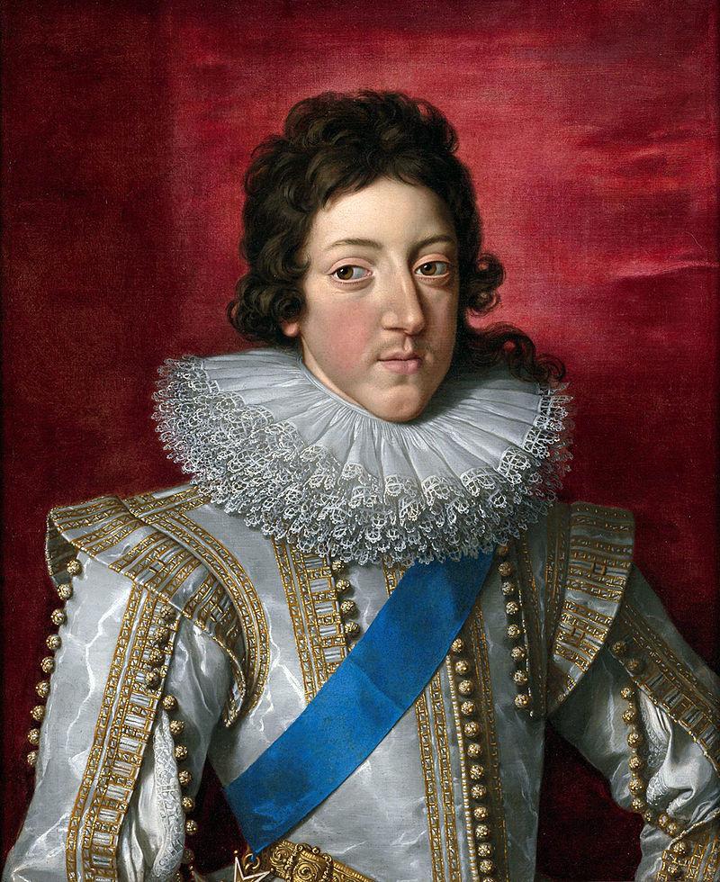 'Людовик XIII, король Франции, с Орденской лентой и знаком Ордена Сент-Эспри' Франс Поурбус Younger.jpg